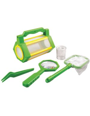 BUG BARN – VENTILATED VIEWER POT WITH MICRO RULER, NET, MAGNIFIER & TWEEZERS (Set)