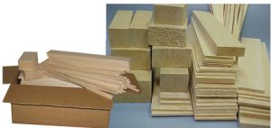 BALSA BOX 1 – BLOCKS, STICKS & SHEETS (121 Pieces)