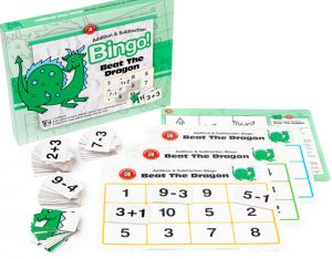 BEAT THE DRAGON – ADDITION & SUBTRACTION BINGO (EDUCATIONAL GAME)